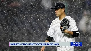 Rain delay rules have some fans calling foul at Yankee Stadium