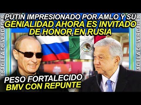 Impresionado Vladimir Putin con AMLO y su combate al huachicol, lo hace su invitado de honor a Rusia