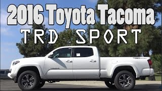 2016 Toyota Tacoma TRD Sport Review Premium & Technology Package