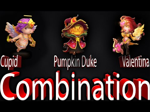 Castle Clash Cupid And Valentina And Pumpkin Duke Combination
