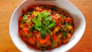Spring Onion & Tomato Curry Recipe-indian Gujarati Cooking-every Day Special Episode-15