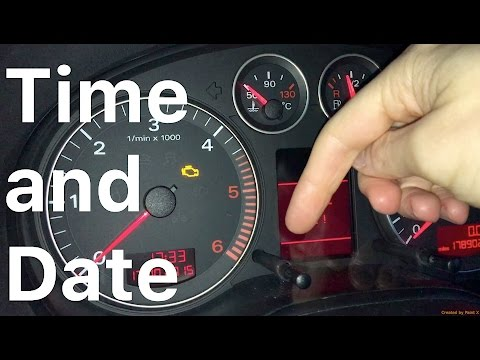 Time and Date set Audi A3