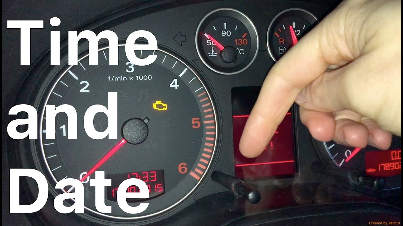 Time And Date Set Audi A3 Youtube