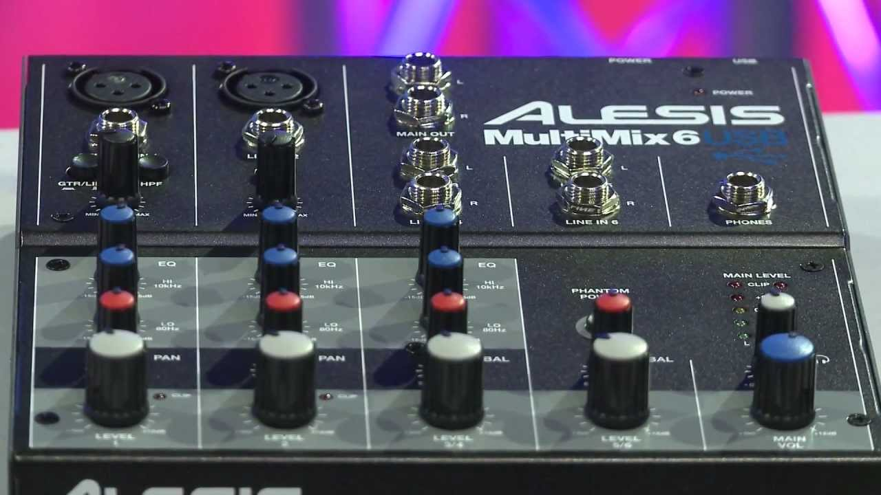 alesis multimix 4 8 16 usb 2 0 fx mixer overview full compass youtube. Black Bedroom Furniture Sets. Home Design Ideas