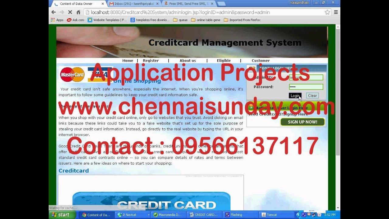 CREDIT CARD MANAGEMENT SYSTEM