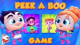 Peek A Boo Game Song for Kids | Hide and Seek | Nursery Rhymes & Baby Songs - Super Supremes