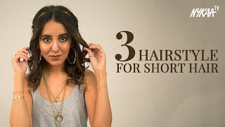 3 Hairstyles For Girls With Short Hair + Giveaway | Anushka Mulchandani