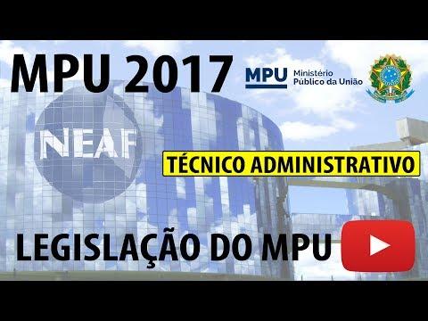 Correção Prova MPU 2013 Técnico Administrativo Legislação do MPU