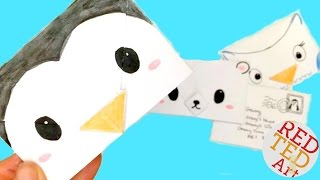 Easy Origami Envelope - Winter Animals (Polar Bear, Penguin, Owl) - Paper Crafts