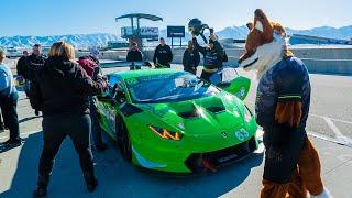 PUSHING LIMITS IN $1,000,000 LAMBORGHINI RACE CAR! *FUNNY REACTIONS*