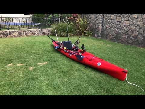 Hawaii Offshore Rigged Hobie Revolution 16 Fishing Kayak for Mahi, Tuna, Wahoo(Ono)