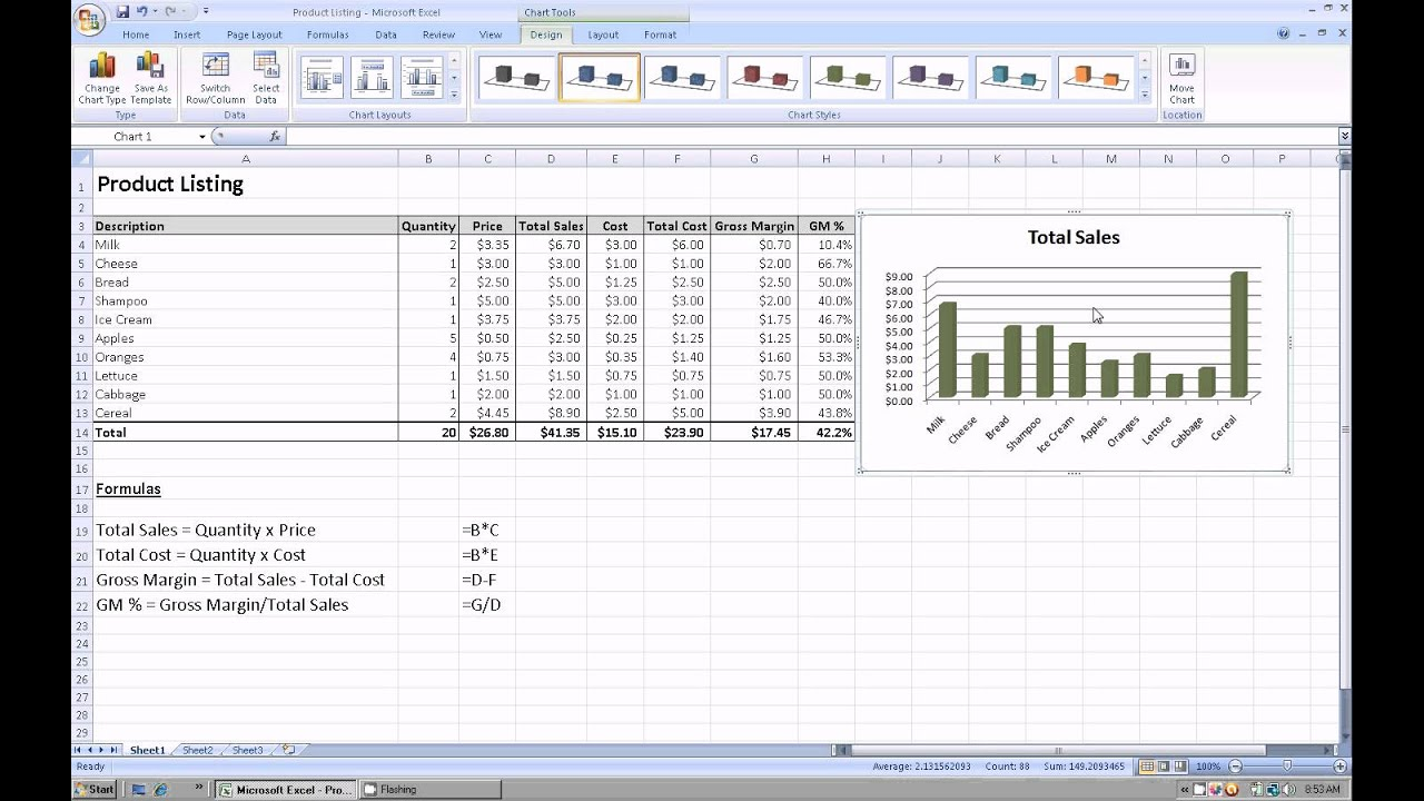 Excel how to create  graph or chart using your spreadsheet data also rh youtube