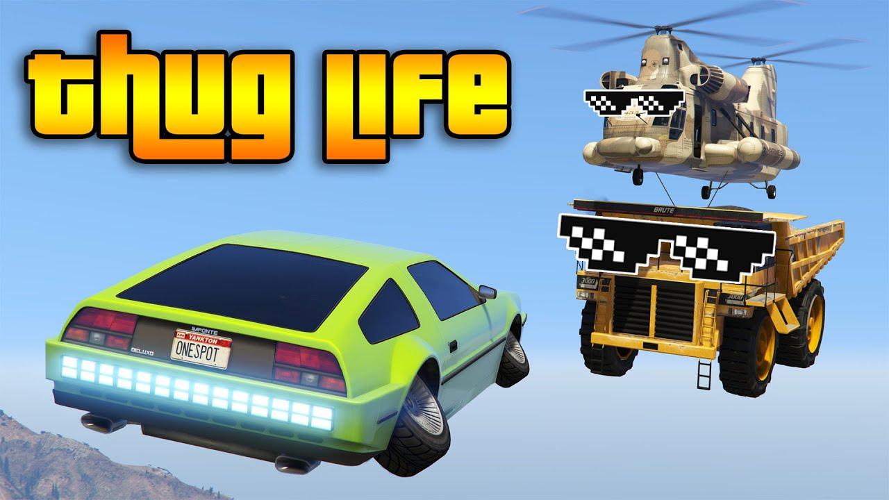 GTA 5 FUNNY MOMENTS AND GTA 5 THUG LIFE #284