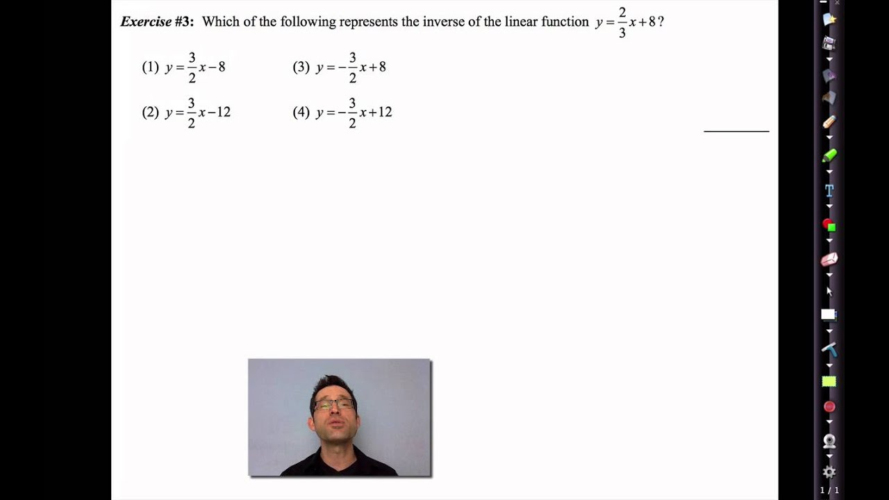 Common Core Algebra Ii Unit 3 Lesson 5 Inverses Of Linear Functions