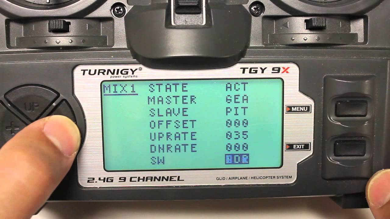DJI Naza Forced Failsafe Using Turnigy 9X Gear Switch Channel 5 Mix w/ 3  Position Switch