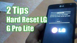 Hard Reset LG G Pro Lite | 2 Tips