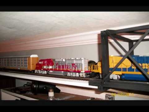 Model Train Shelve Wall Layout O Scale Gauge MTH Rail King Lionel K-Line how to Construction Video