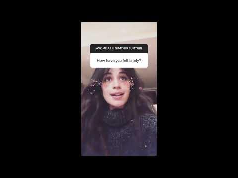 Camila Cabello's IG Stories (2/7/20) - Fan Q+A