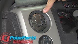 F-150 Raptor American Car Craft A/C Vent Trim Cover Brushed & Polished SS Set 2010-2014 Installation