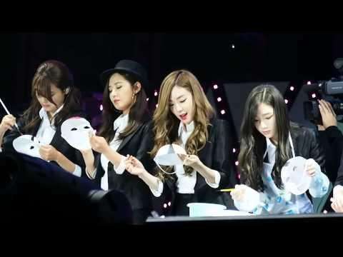 20141122 SNSD Chongqing fanmeeting drawing Facial Makeup 画脸谱