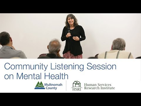 Community Listening Session on Mental Health in Multnomah County