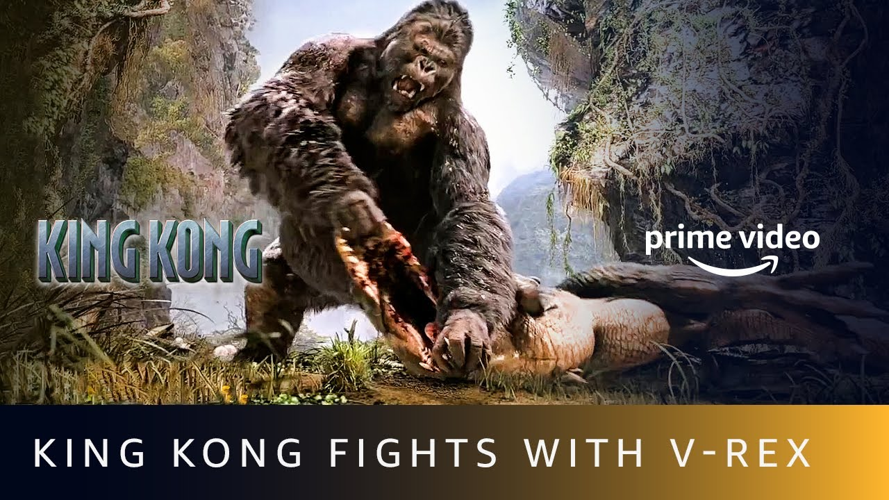 King Kong Fights With V - REX | Naomi Watts, Jack Black, Adrien Brody #shorts