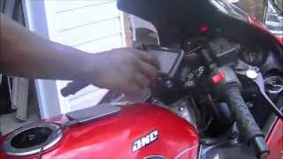 nMo kawasaki ninja pimping zx6 500watt Mitzu amp ( motorcycle speakers/gps, and 12v charger))
