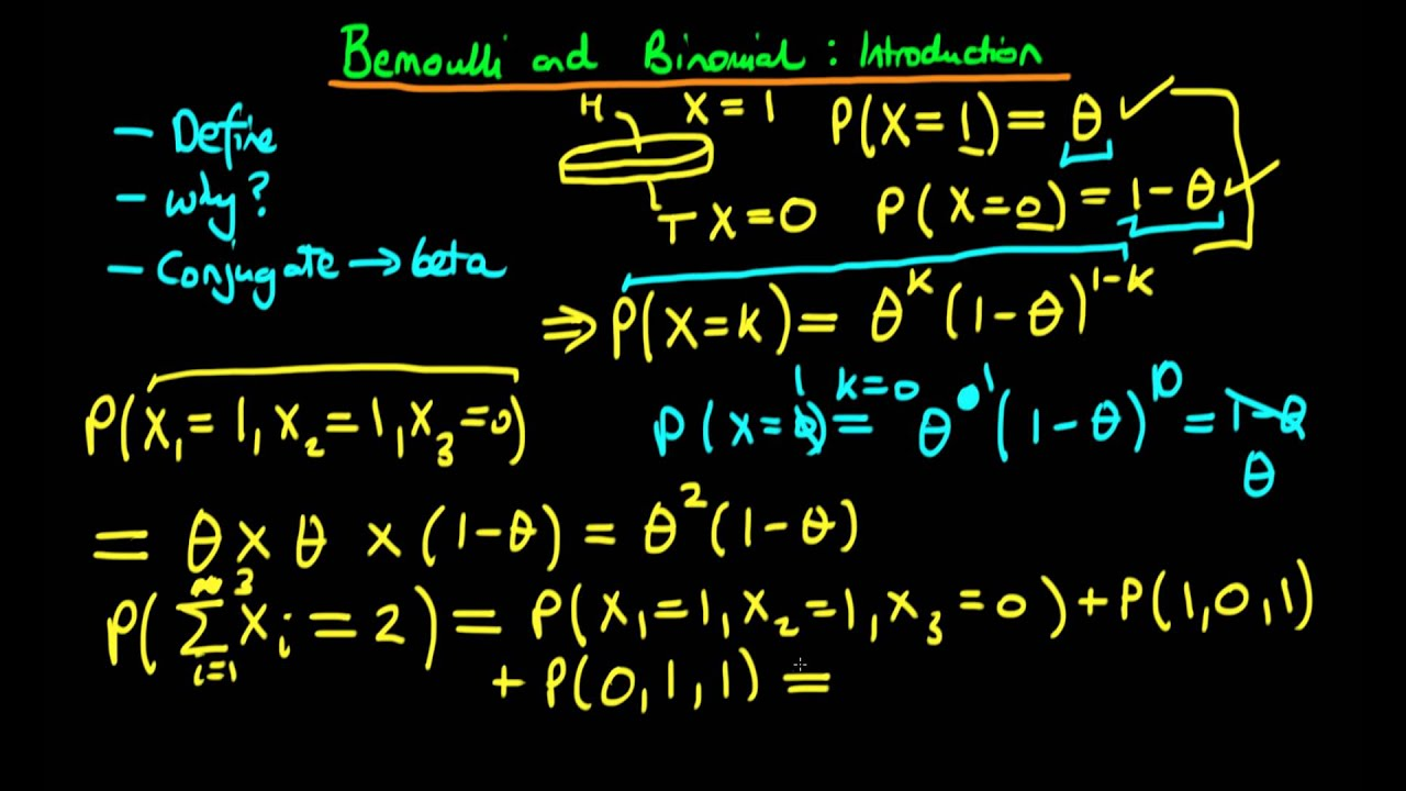 18 - Bernoulli and Binomial distributions - an introduction