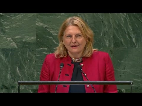 Austria's foreign minister spoke in Arabic to the UN General Assembly