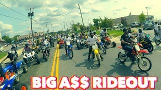 OVER 1000 DIRT BIKES AND ATV'S AT THIS RIDE OUT !