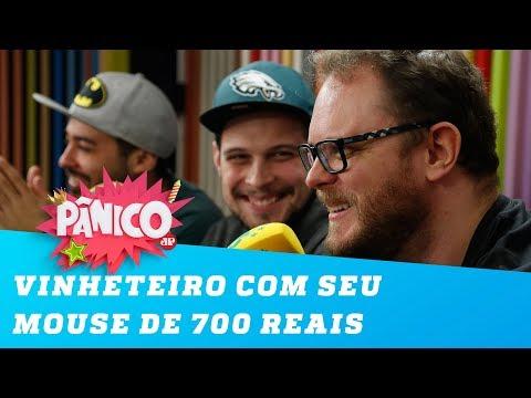 Vinheteiro PISTOLOU com seu mouse de 700 reais