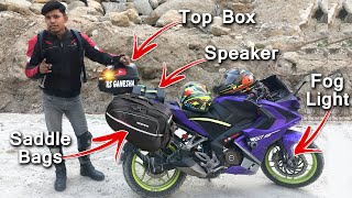 Saddle Bags for Pulsar RS200, Touring Bike Ready
