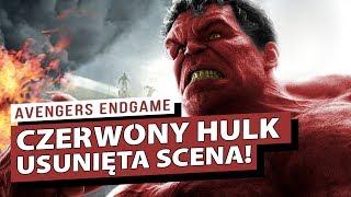 CZERWONY HULK usunięty z Avengers Endgame! Analiza usuniętej sceny!