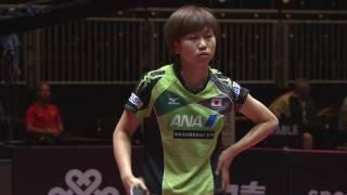 女子シングルス1回戦 佐藤瞳 vs ムカルジー第2ゲーム