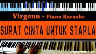 Virgoun Surat Cinta Untuk Starla LOWER Key Piano Karaoke Indonesian Song