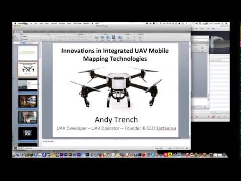 """Innovations in Integrated UAV Mobile Mapping Technologies"" Webinar by Andy Trench, 2015 Geov8 Expo"
