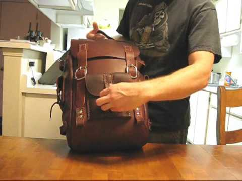 Leather Backpack video - YouTube