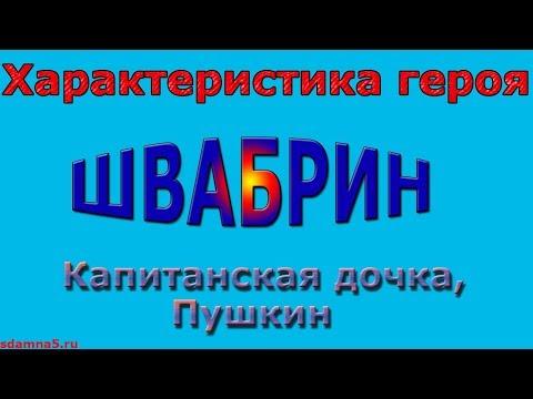 Характеристика героя Швабрин, Капитанская дочка, Пушкин