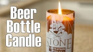 Beer / wine  bottle candles ♥ DIY