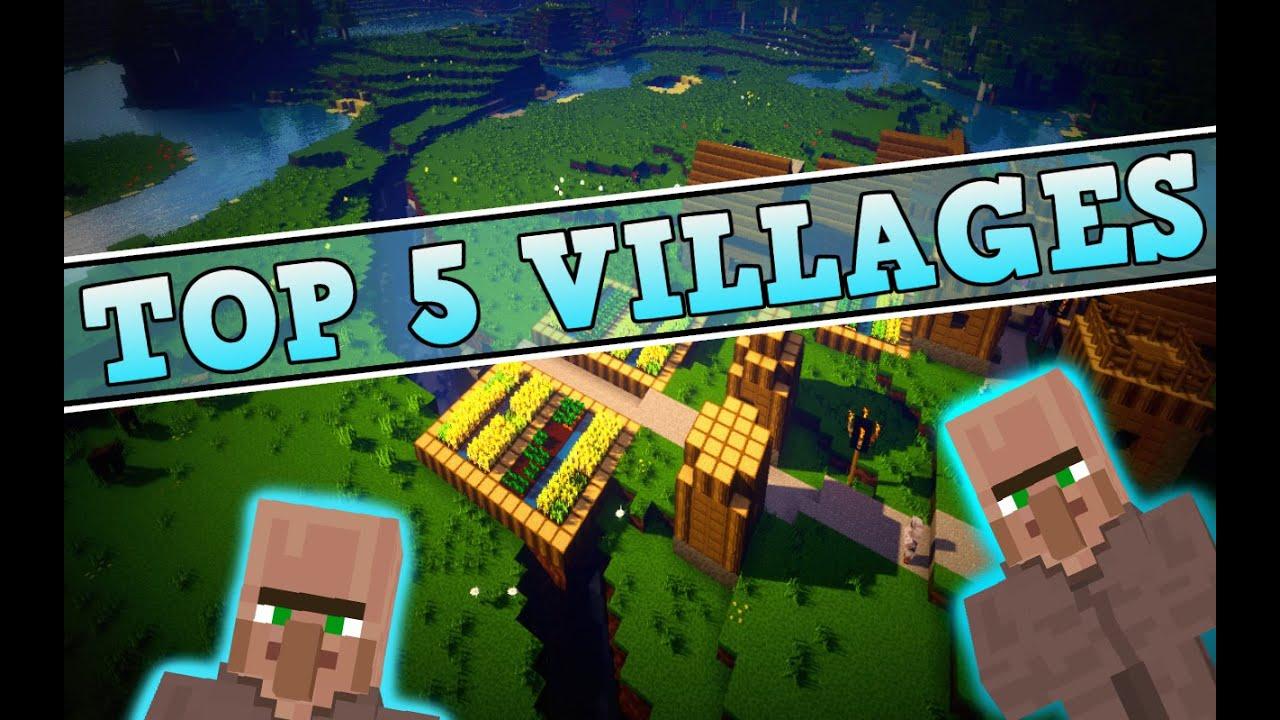 Minecraft Seeds - TOP 5 Village Seeds! 1 8, 1 7 [Minecraft PC Seed Showcase]