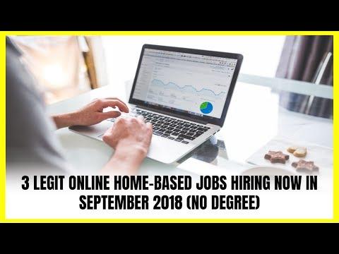 3 Online Home-Based Jobs Hiring Now in September 2018 (No Degree)