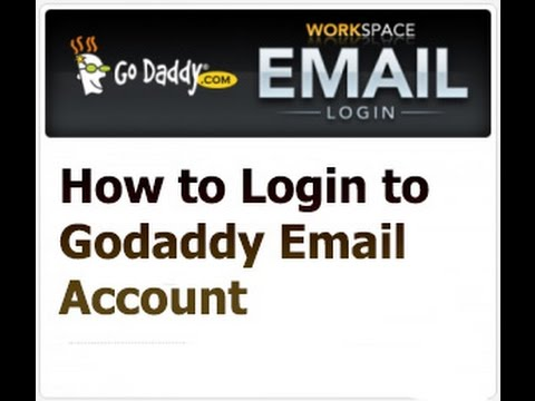 how-to-login-to-godaddy-email-account