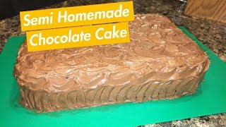 How to Make: Semi Homemade Chocolate Cake