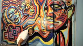 Wall Mural Artist Let Em Go Atlanta Art Corey Barksdale Hip Hop Music Art Graffit Street Art
