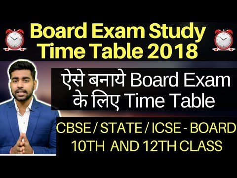Make the time table of 10th board exam  12th up