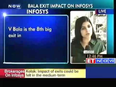 Bala exit puts brakes on Infosys rally; stock down over 2%