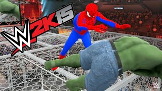 WWE 2K15 - HULK VS Spider Man - HELL IN A CELL MATCH
