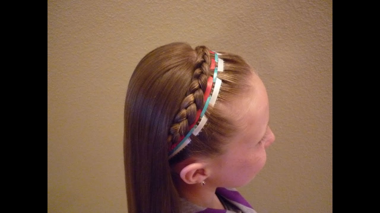 Fourth Of July Hairstyles French Braid Headband Ribbon 4th Of July Hairstyle Youtube