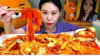 불스떡볶이 치즈토핑 중국당면 주기적으로 떡볶이를 안먹으면 예민해짐 먹방 Mukbang