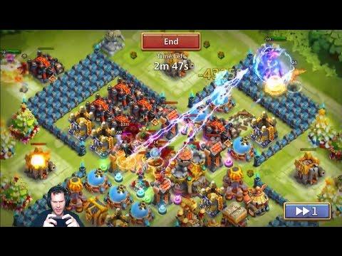 Demogorgon OWNING MY Base 8/8 WARGOD Fricken NUTS! Castle Clash